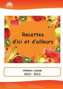 LIVRET RECETTES CUISINE - version entrée plats desserts - PAGE DE GARDE